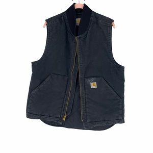 Carhartt padded black vest some wear